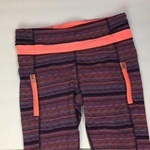 Lululemon sz 6 leggings multicolor stripes FLAW